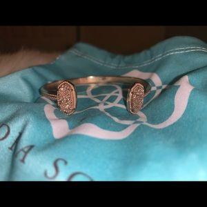 Kendra Scott Elton Rose Gold Drusy Cuff bracelet